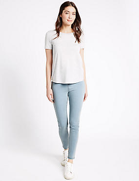High Rise Super Skinny Jeans, PALE BLUE, catlanding