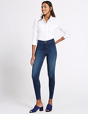 High Rise Super Skinny Jeans, MEDIUM INDIGO, catlanding