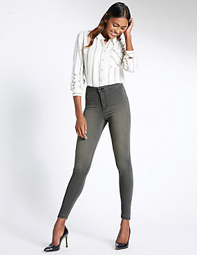 High Rise Super Skinny Jeans, GREY, catlanding