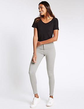 High Rise Super Skinny Jeans, LIGHT GREY, catlanding