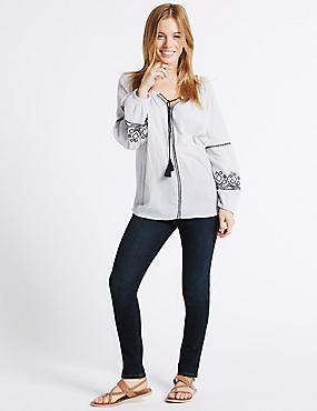 PETITE– Jean skinny taille haute, , catlanding