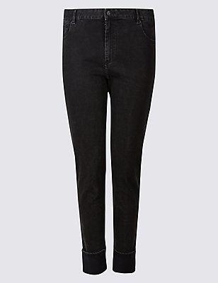 PLUS Mid Rise Jeans , , catlanding