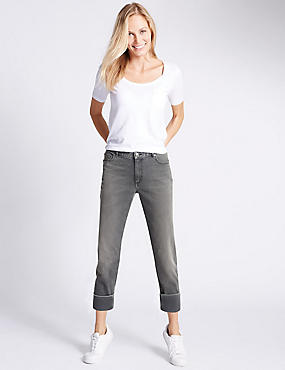 Jean slim taille normale coupe confortable, GRIS, catlanding