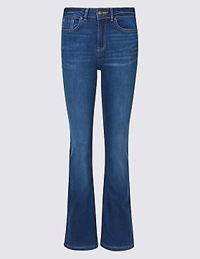Ozone Mid Rise Slim Bootcut Jeans, MEDIUM BLUE MIX, catlanding