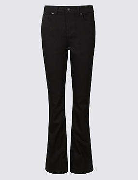 Ozone Mid Rise Slim Bootcut Jeans, BLACK MIX, catlanding