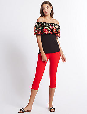 Mid Rise Cropped Skinny Leg Jeans, RED, catlanding