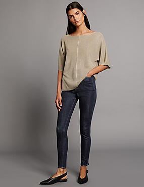 Contour– Jean skinny taille normale, INDIGO ASSORTI, catlanding