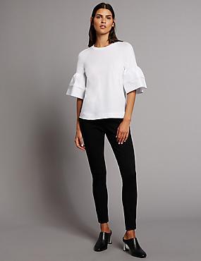 Contour– Jean skinny taille normale, NOIR, catlanding