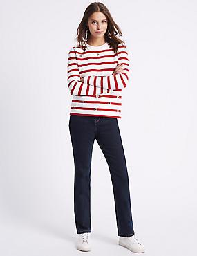 Jeans mit geradem Bein, INDIGO, catlanding