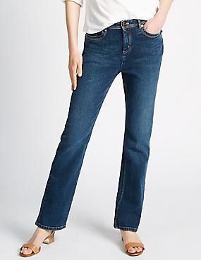 Bootcut Leg Jeans, MED BLUE DENIM, catlanding