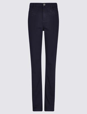Прямые джинсы с декором Per Una T578823K