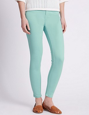 5 Pocket Super Skinny Jeans, BRIGHT MINT, catlanding