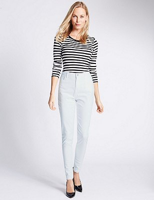 5 Pocket Super Skinny Jeans, SOFT WHITE, catlanding