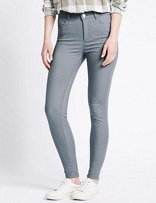 5 Pocket Super Skinny Jeans, MEDIUM GREY, catlanding