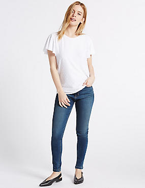 PETITE 5 Pocket Super Skinny Jeggings, MEDIUM INDIGO, catlanding