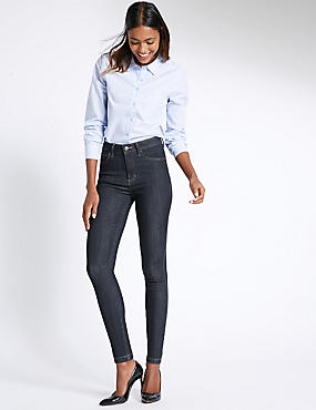 5 Pocket Mid Rise Super Skinny Jeggings, INDIGO MIX, catlanding