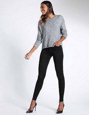 5 Pocket Super Skinny Jeans, BLACK, catlanding