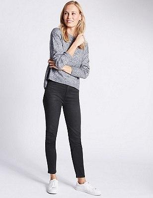 5 Pocket Super Skinny Jeans, BLACK MIX, catlanding