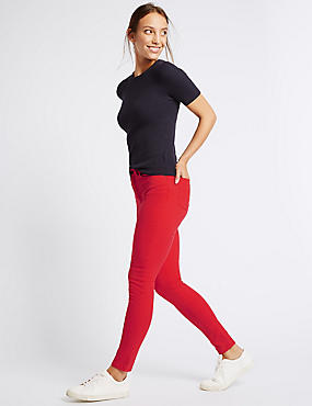 Jean coupe très skinny taille normale, ROUGE VIF, catlanding