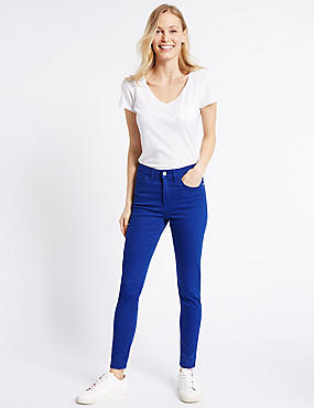 Jean coupe très skinny taille normale, COBALT, catlanding