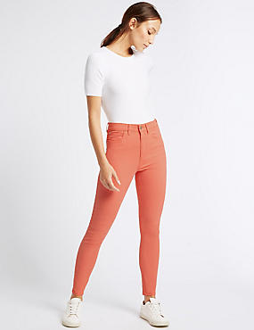 Mid Rise Super Skinny Leg Jeans, DARK ORANGE, catlanding