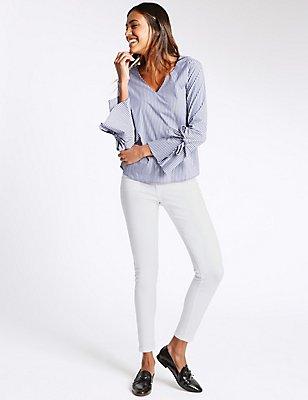 Mid Rise Super Skinny Jeans, SOFT WHITE, catlanding