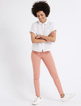 Mid Rise Super Skinny Leg Jeans, TEA ROSE, catlanding