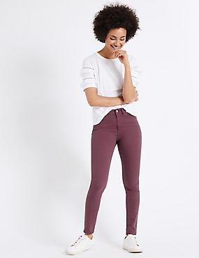 Pantacourt en jean coupe très skinny taille normale, MÛRE, catlanding