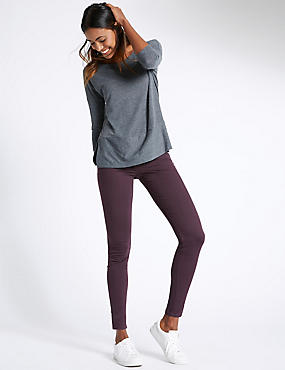 Superskinny jeggings met 5 zakken, PRUNE, catlanding