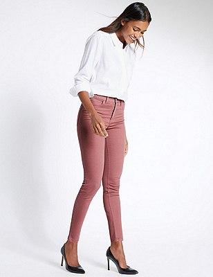 5 Pocket Super Skinny Jeans, ROSE PINK, catlanding