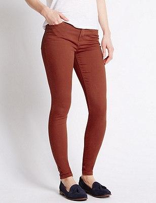 5 Pocket Super Skinny Jeans, BERRY RED, catlanding