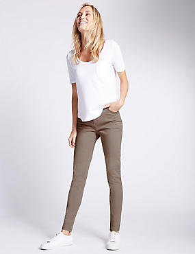 5 Pocket Super Skinny Jeans, POWDER PINK, catlanding