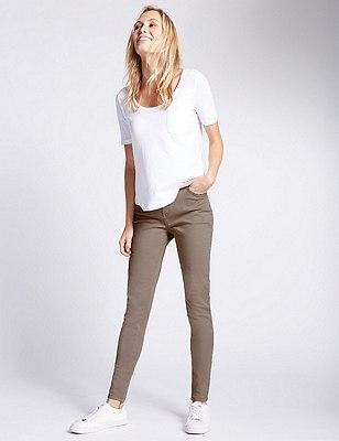 5 Pocket Super Skinny Jeans, POWDER PINK, catlanding