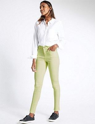 5 Pocket Super Skinny Jeans, LIGHT OLIVE, catlanding