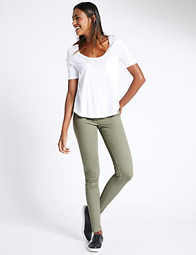 5 Pocket Super Skinny Jeans, KHAKI MIX, catlanding
