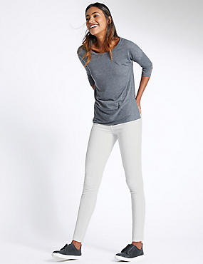 5 Pocket Super Skinny Jeans, SOFT WHITE, catlanding