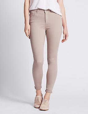 5 Pocket Super Skinny Jeans, STONE, catlanding