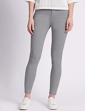 5 Pocket Super Skinny Jeans, LIGHT GREY, catlanding