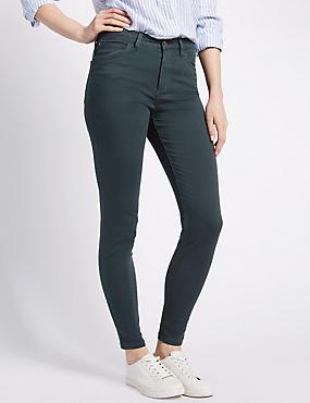 5 Pocket Super Skinny Jeans, PETROL, catlanding