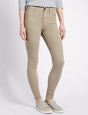 5 Pocket Super Skinny Jeans, PLATINUM, catlanding