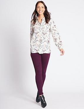Mid Rise Super Skinny Jeans, MAGENTA, catlanding
