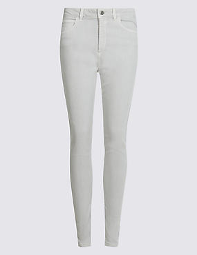 Mid Rise Super Skinny Jeans, SILVER GREY, catlanding