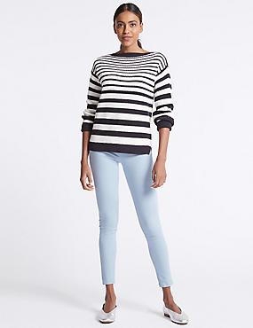 Mid Rise Super Skinny Jeans, PALE BLUE, catlanding