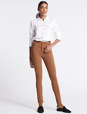 Mid Rise Super Skinny Jeans, TAN, catlanding