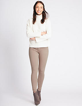 Mid Rise Super Skinny Jeans, OYSTER, catlanding