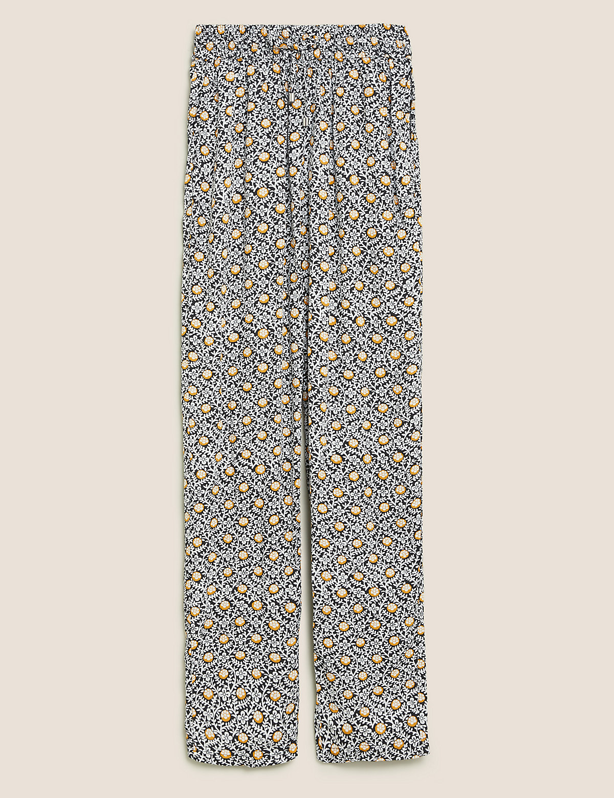 Зауженные до щиколотки брюки с цветочным рисунком