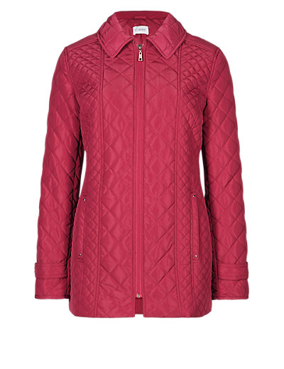 Quilted Padded Textured Jacket