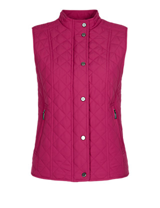 Funnel Neck Quilted Gilet with Stormwear™ Clothing