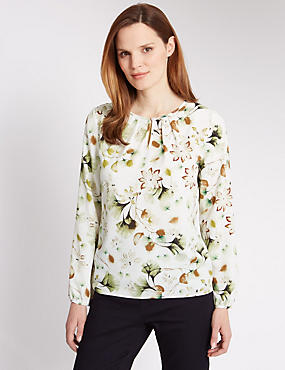 Floral Shell Top