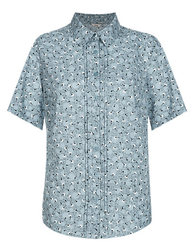 Easy Care Floral Ditsy Shirt Clothing